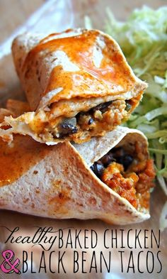 Healthy Baked Chicken and Black Bean Tacos
