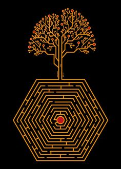 "Beautiful ""Tree Maze"" metal poster created by Noel delMar. Our Displate metal prints will make your walls awesome. Colorful Art, Cool Artwork, Metal Posters, Badass Drawings, Poster Prints, Nature Posters, Print Artist, Maze Design, Tree Artwork"