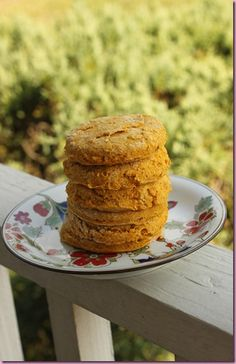 Sweet Potato Biscuits 1 1/2 C Bob's red Mill GF Baking Mix (spelt flour or wheat would be lovely too)  3 1/4 t baking powder  1/2 t xanthan gum (can omit if you aren't using gluten-free flour)  3/4 C sweet potato puree   1/2 t salt  Stevia to taste  1/3 C milk of choice (I used almond)  3 T butter