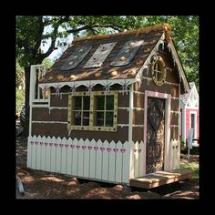 Transform an existing playhouse into the witch's house for a Hansel and Gretel party.