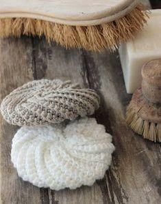 TAWASHI : petites éponges en crochet lavables et réutisables pour le visage, le corps ...ou pour la vaisselle