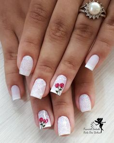 Red Nail Art, Red Nails, Love Nails, Pretty Nails, Sunflower Nails, Wedding Nails Design, Fancy Nancy, Fall Nail Designs, Nail Art Galleries