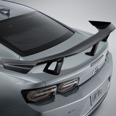 Take your Camaro SS or to top with this Chevrolet Performance Spec High Wing Spoiler in visible Carbon Fiber Raceinspired and developed on 2019 Camaro, Camaro 2016, Chevrolet Camaro, Camaro Concept, Carbon Fiber Spoiler, Camaro Models, Cute Car Accessories, Cute Cars, Car Travel
