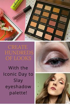 The Iconic Day to Slay eyeshadow palette is pretty versatile. With 20 shades you can transform your look from night to day with very little effort. Follow my eyeshadow tutorial to create both a simple day and night loo.