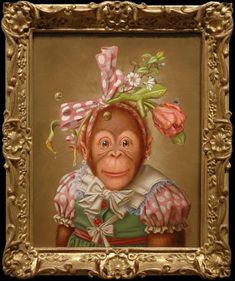 Print by Donald Roller Wilson....i love monkeys and would love to have one of them!!! This one is my fav.