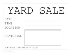 Operation Organization : Professional Organizer Peachtree City, GA : How to Hold a Successful Yard Sale