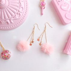 ♥ The Cutest Monthly Kawaii Subscription Box ♥ Receive cute items from Japan & Korea every month ♥ Kawaii Jewelry, Kawaii Accessories, Jewelry Accessories, Jewelry Design, Fancy Jewellery, Stylish Jewelry, Fashion Jewelry, Ear Jewelry, Cute Jewelry