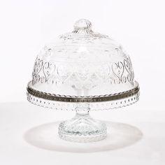 ✿ڿڰۣ(̆̃̃•Aussiegirl  Vintage Crystal Cake Stand