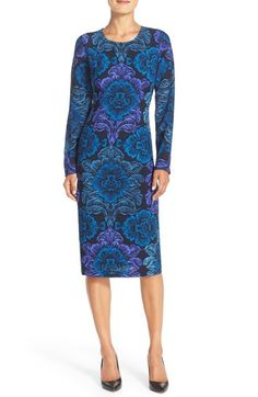 Maggy London Floral Print Crepe Midi Dress available at #Nordstrom