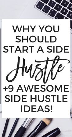 Why You Should Start a Side Hustle - Ready to start earning some extra income? In this post Im talking about why YOU should start a side hustle and Im also sharing a few awesome side hustle ideas! Work From Home Jobs, Make Money From Home, Way To Make Money, Home Based Business Opportunities, Business Tips, Business Motivation, Business Design, Online Business, Make Money Blogging