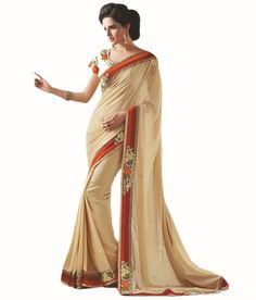 Loved it: Ajay And Vijay Beige Pure Georgette Embroidered Saree, http://www.snapdeal.com/product/ajay-and-vijay-beige-pure/1106789571