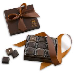 Lake Champlain Chocolates Revel Chocolates gift box: Chocolate for mom, whiskey for dad. All in one tidy little package.