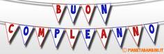 Striscione Buon Compleanno Bandierine Triangolari