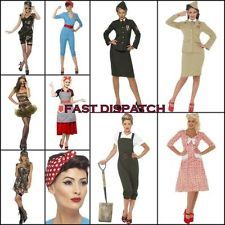 WW2 Fancy Dress Costume Land Girl Pin Up Wartime Officer World War 2 Army 8 - 22