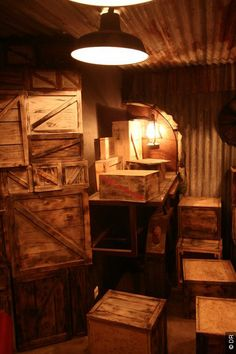 I could make some Prop prohibition crates that either we can put by the bar or maybe somewhere where the guys would hang and smoke. As a prop scene or picture place