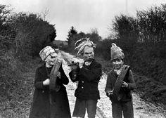 """""""Wren Boys"""", St. Stephen's Day, Athea, Co. Limerick by Caoimhín Ó Danachair, 1947. National Folklore Collection"""