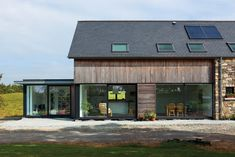"""Building commenced in 2007 on this timber framed """"ECO House"""" in rural County Down. The imaginative design from BGA Architects created a superb family home. Scandinavian Architecture, Eco Architecture, Architecture Details, Architect House, Architect Design, Porches, Copper House, Loft, Virginia Homes"""