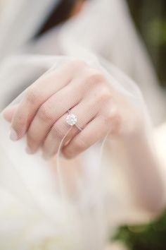Stunning engagement ring: http://www.stylemepretty.com/illinois-weddings/chicago/2014/09/18/modern-chicago-museum-of-contemporary-art-wedding/ | Photography: Diana Lupu - http://dluphotography.com/