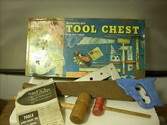 Vintage American Tool Chest w Tools