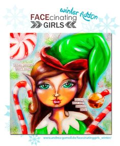 FACEcinating Girls Winter AddOn - Online Class by Andrea Gomoll - www.andrea-gomoll.de/facecinatinggirls_winter/