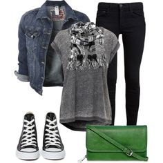 A fashion look from August 2014 featuring Proenza Schouler jeans, Converse sneakers y Liz Claiborne wallets. Browse and shop related looks.