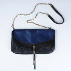 pochette double (black/blue)