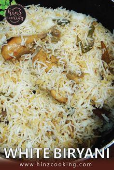 White Biryani - Sofiyani White Chicken Biryani Recipe #chickenbiryani #thewhitebiryani #whitebiryanirecipe Pakistani Chicken Recipes, Indian Food Recipes, Rice Recipes, Cooking Recipes, Recipies, Biryani Recipe Video, Desi Food, White Chicken, Food N
