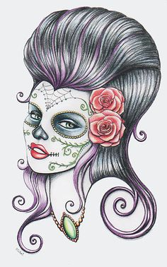 """""""Day of the dead """" by Isobel Von Finklestein   Redbubble"""