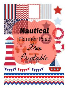 Free Printable Planner Page Decorations *Nautical* via Andrea Nicole Blogs