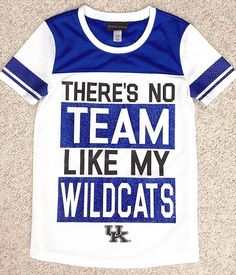 factory price 4b6c6 29427 YOUTH Girls S M (Size 10) GLITTER KENTUCKY WILDCATS JERSEY Mesh Sparkly-Blue  UK  5thOcean  KentuckyWildcats