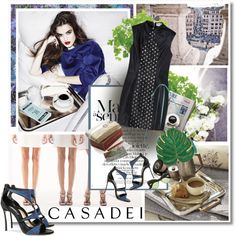 CASADEI by undici on Polyvore featuring moda, Casadei, Gucci, Pottery Barn, Designers Guild, Crate and Barrel, Sephora Collection and modern