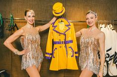 "Showing off our ""Singin' In The Rain"" number costumes!"