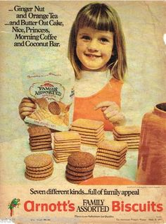 ARNOTT'S BISCUITS  Vintage Ad  1970 ARNOTTS AD Original Australian Ad  ARNOTTS