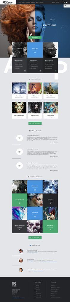 Web Design - Advanced Photoshop on Behance Mobile Web Design, Web Ui Design, Best Web Design, Web Layout, Layout Design, Portfolio Webdesign, Design Sites, Design Spartan, Site Vitrine
