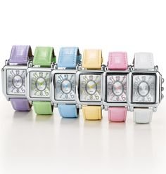 Pretty Pastel Strap Watch Reg Price: $19.99 / Sale Price: $14.99  (available in 6 colors) Intro Special - SAVE 25%!!! Silvertone case with pastel-colored numbers. Order today for Mother's Day. Visit me at http://abagtas.avonrepresentative.com/