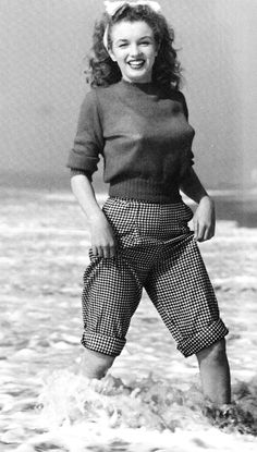 "adelphe:  ""Marilyn Monroe photographed by Andre de Dienes, 1945  """