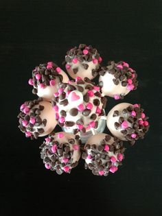 Cake Pops - 11 year old girl's birthday party.  Chocolate chip cake pops.