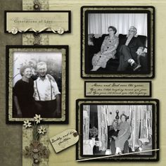 Generations of Love ~ traditionally designed heritage page with a lovely, simple style.