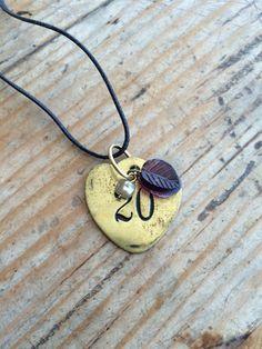 Love the vintage brass heart