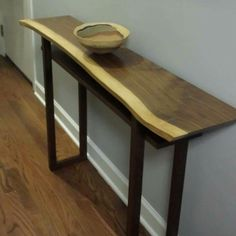 Our latest live edge walnut hall table now at home in Chicago! Each live edge table is so uniquely beautiful.