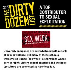 University Sex Weeks are contributing to sexual exploitation.   Share this graphic on social media!
