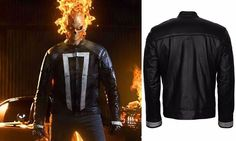 Ghost Rider Agents Of Shield Season 4 Black Leather Jacket  See more here: http://ebay.to/2hlFCXM  Get the stylish Ghost Rider Leather jacket from our well- known online store Omu. The classy Agent of shield jacket gives the tremendous look and keeps you comfortable. Collect your best one at discounted price. Folow @fashionbookface   Folow @salevenue   Folow @iphonealiexpress   ________________________________  @channingtatum @voguemagazine @shawnmendes @laudyacynthiabella @elliegoulding…