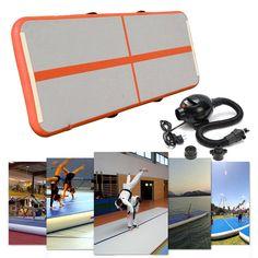 Funsport 300x100x10cm Home Gymnastics Tumbling Air Trackgym Mat Inflatable Taekwondo f8