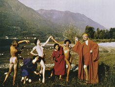 Rudolf von Laban and his dancers, 1914, Ascona