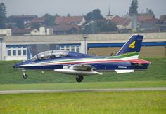 "The Italian Air Force display team ""Frecce Tricolori""  has been testing the Alenia-Aermacchi M-345 HET trainer. Italian Air Force announced October 2013 it would adopt new lightweight M-345 HET, to replace current MB339 (pictured), which is present mount of the Frecci. M-345 upgrade of the M-311, which is simply improved version of SIAI-Marchetti S-211 developed in 1976."
