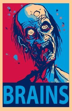 Tavares Brains Zombie Undead Pop Art Poster 24 X 36 Inches By Imaginus Posters