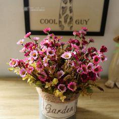 6 Colours European Style Artificial Daisy 1PC Silk Flower Wedding Flower Arrangement Home Decoration