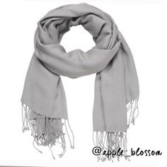 Silver fringe scarf - HOLD silver scarf really dresses up any outfit  Excellent condition  pet/smoke free home Accessories Scarves & Wraps