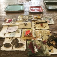 These are some samples and leftovers from teaching at #artunraveled last weekend. I gave away lots but had to keep a little for myself. Thanks to each beautiful artists who attended!