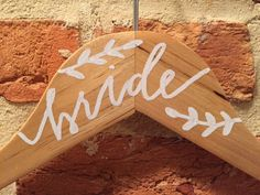 Bridesmaid, mother of the bride, wedding day clothes hanger with calligraphy names | ShotgunningForLove on Etsy